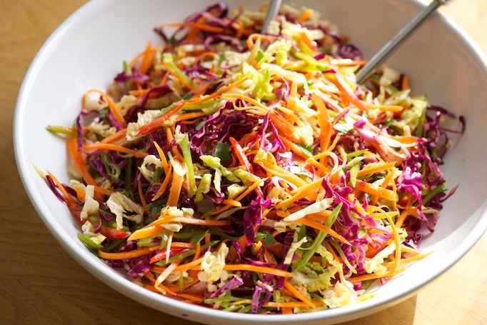 quick and easy asian pickled cole slaw a not so unique asian slaw ...