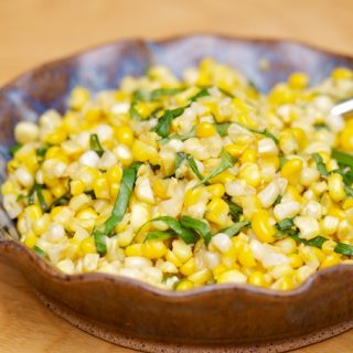 Corn with Basil Brown Butter