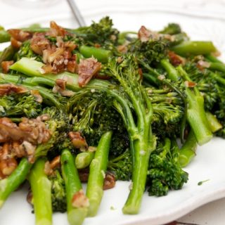Broccolini with Pecan Brown Butter