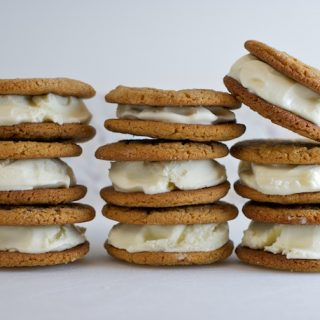 Ginger Ice Cream and Molasses Spice Sandwich Cookies