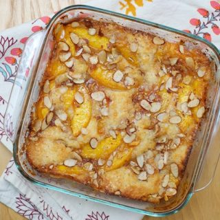 Nectarine Brown Butter Cobbler/Cake