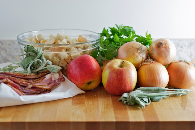 Bread Stuffing with Bacon, Apples, Sage and Caramelized Onions ...