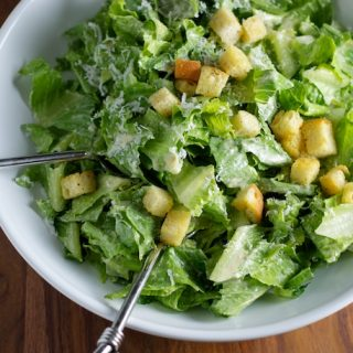 Caesar Salad with Homemade Croutons