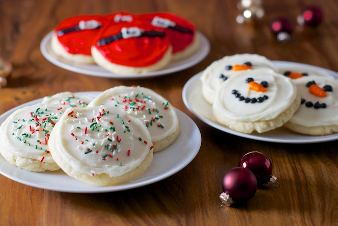 Giant Soft Sugar Cookies with Buttercream Frosting