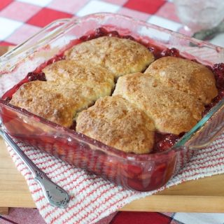 Mom's Sour Cherry Cobbler