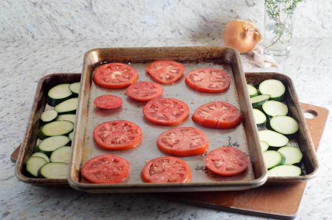 Zucchini, Tomato and Rice Gratin
