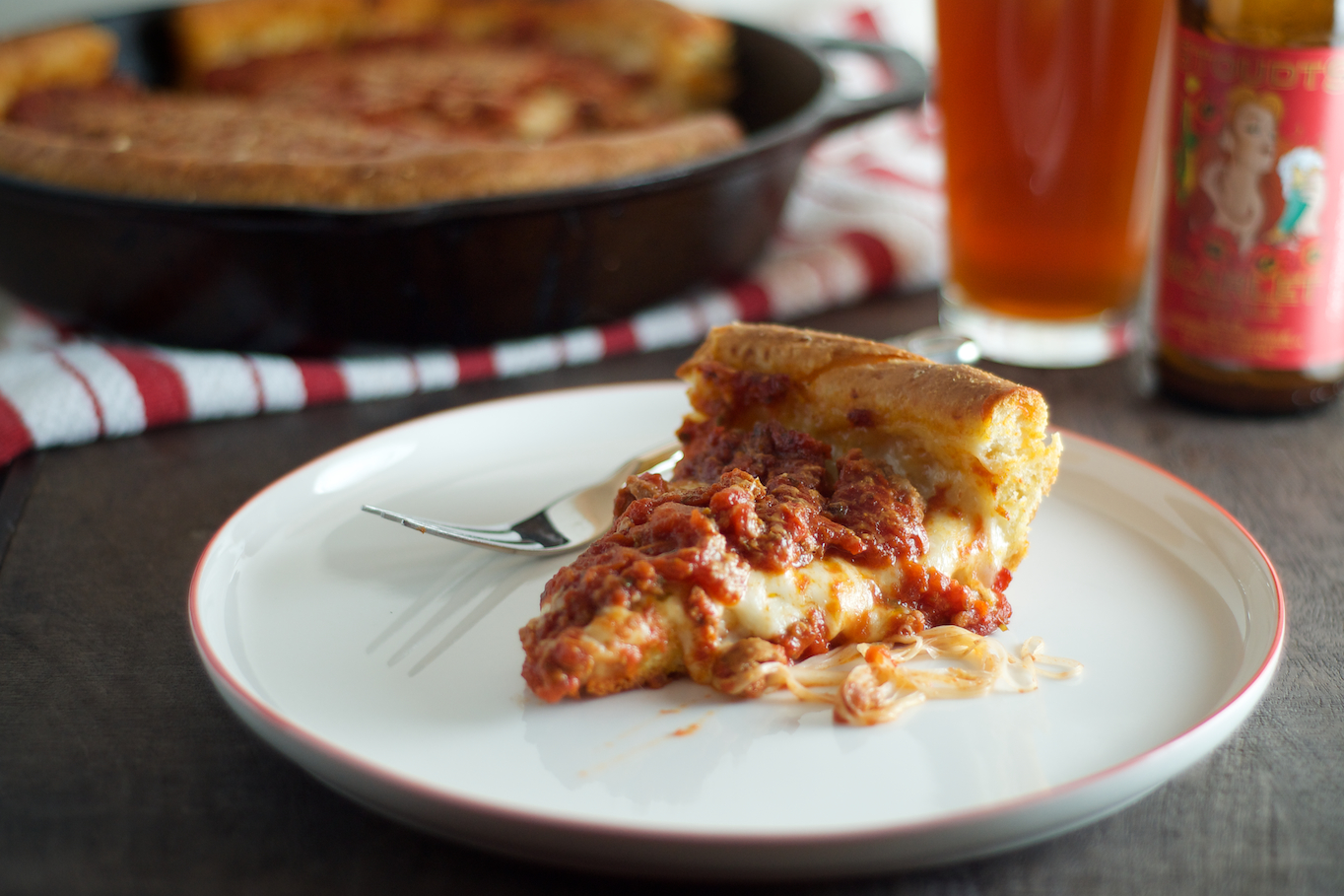 Chicago-Style Deep-Dish Pizza | Heather homemade