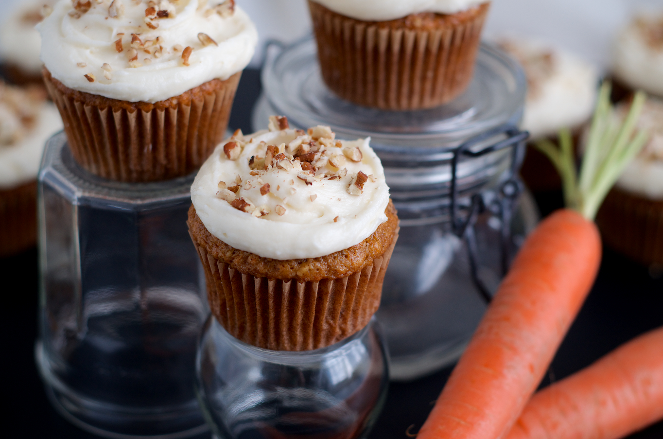 Carrot Ginger Cupcakes With Cream Cheese Frosting Recipe ...