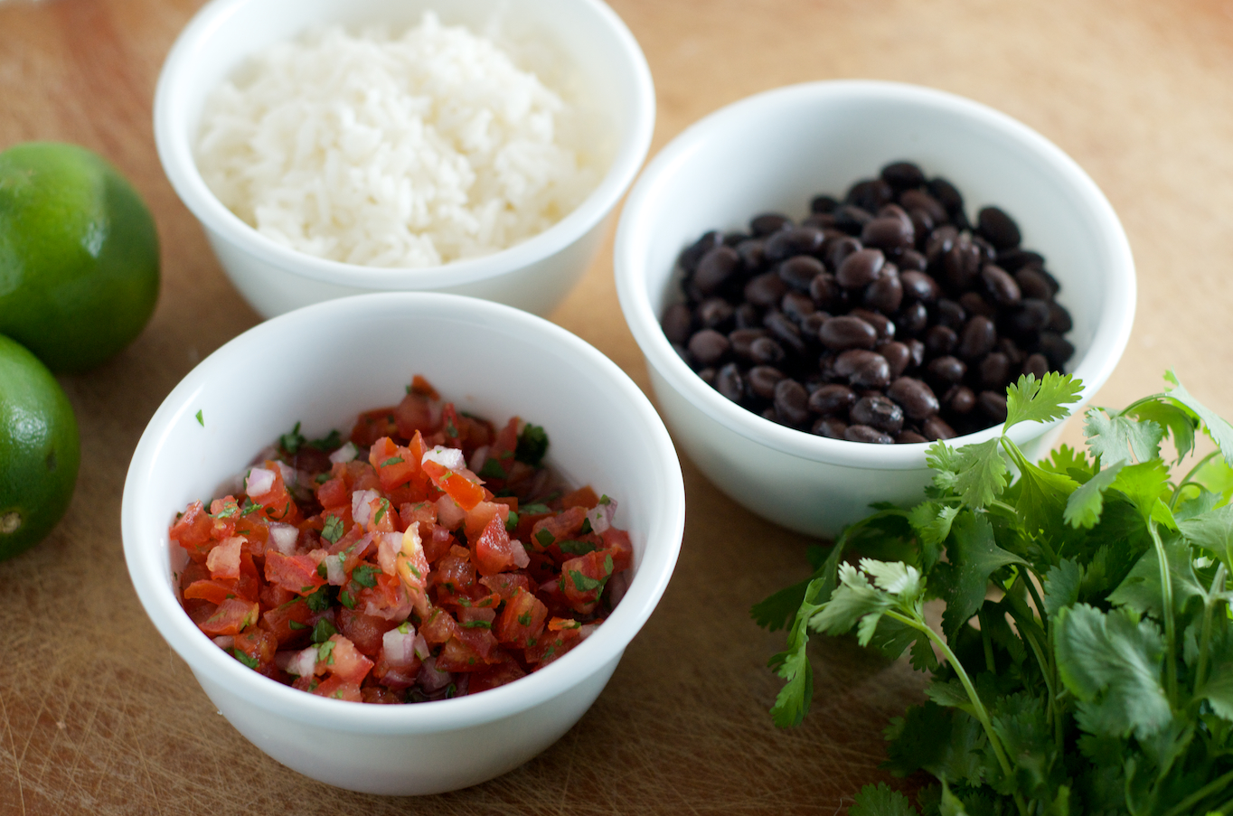 Fresh Salsa, Black Beans, Rice
