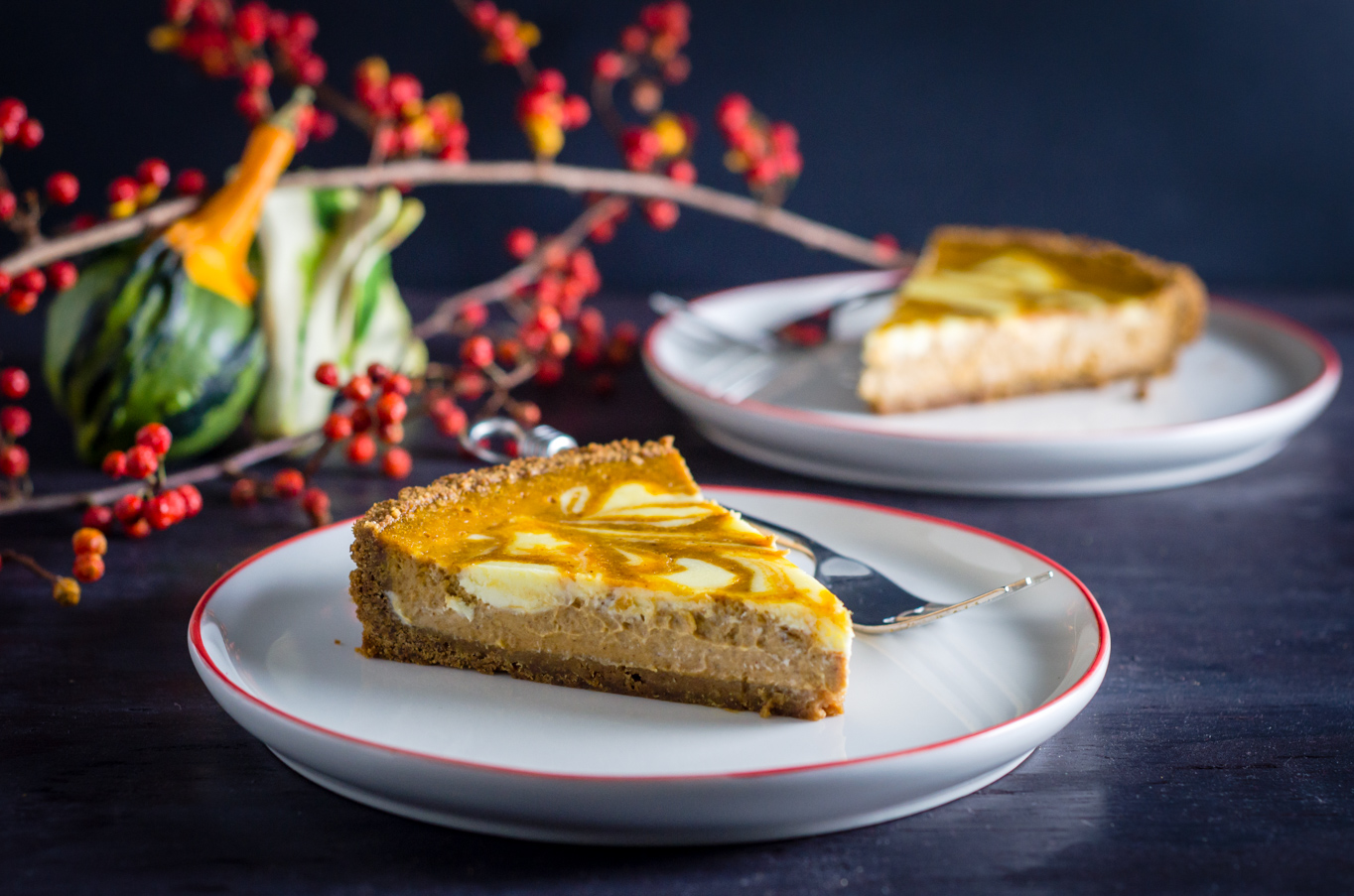 Marbled Pumpkin Gingersnap Tart