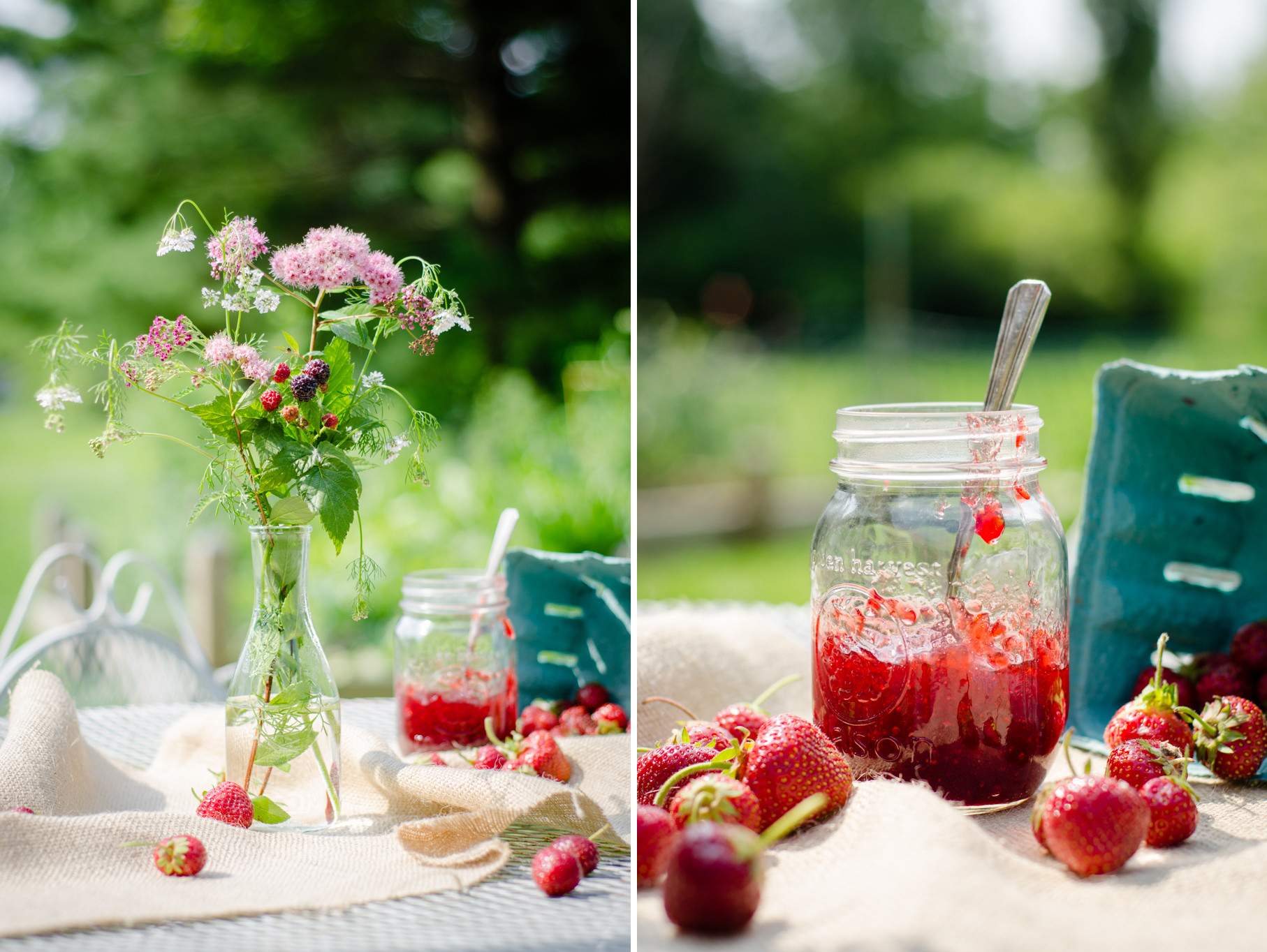 Strawberry Jam & Flowers